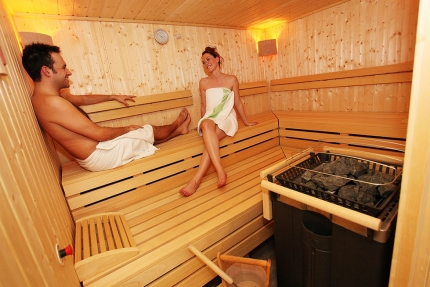 Sauna im Schwesterhotel Sporthotel ROYAL X – Appartements direkt am Millstätter See – Seevilla Cattina
