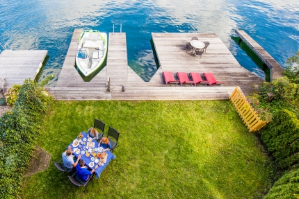 Bootsanlegestelle – Seevilla Leitner am Millstätter See – Urlaub in Kärnten am See