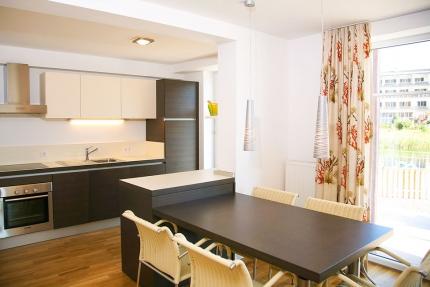 Küche im Appartement Seerose – Seevilla Cattina – Appartements direkt am Millstätter See