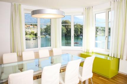 Essbereich im Appartement Wasserlilie – Seevilla Cattina – Appartements direkt am Millstätter See