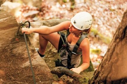 Klettern am Peter Santer Kletterfelsen – Appartements am Millstätter See – Seevilla Cattina