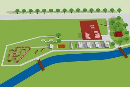 Übersichtsplan des Bikeparks Seeboden – Urlaub am Millstätter See – Seevilla Cattina Appartements direkt am See