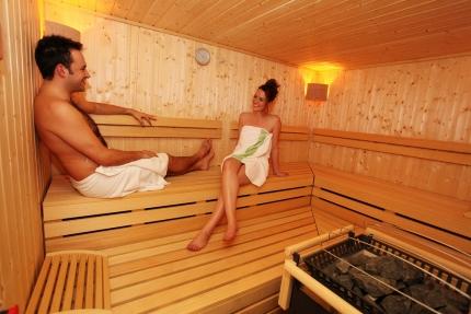 Sauna im Sporthotel ROYAL X am Millstätter See – Schwesterhotel der Seevilla Cattina – Urlaub in Kärnten am See