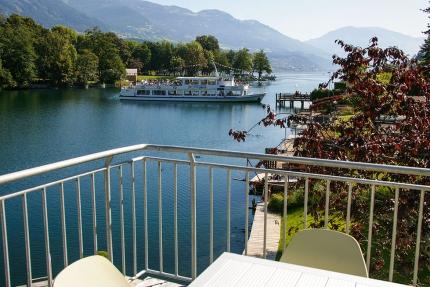 Seevilla Cattina – Ausblick vom Balkon – Luxus-Appartements direkt am Millstätter See in Kärnten
