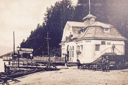Seevilla Cattina – historische Aufnahme – Luxus-Appartements direkt am Millstätter See in Kärnten