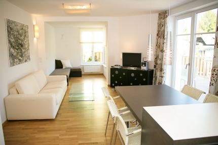 Wohnzimmer Appartement Wasserstern – Seevilla Cattina – Appartements direkt am Millstätter See in Kärnten