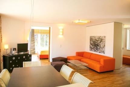 Wohnzimmer Appartement Seerose – Seevilla Cattina – Appartements direkt am Millstätter See in Kärnten