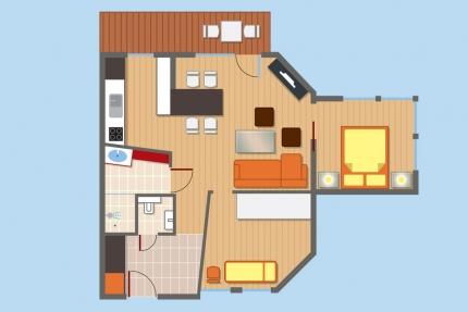 Übersichtsskizze Appartement Seerose – Seevilla Cattina – Appartements direkt am Millstätter See in Kärnten