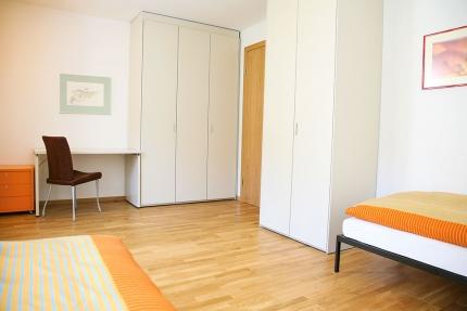 Zweites Schlafzimmer Appartement Wasserlilie – Seevilla Cattina – Appartements direkt am Millstätter See in Kärnten